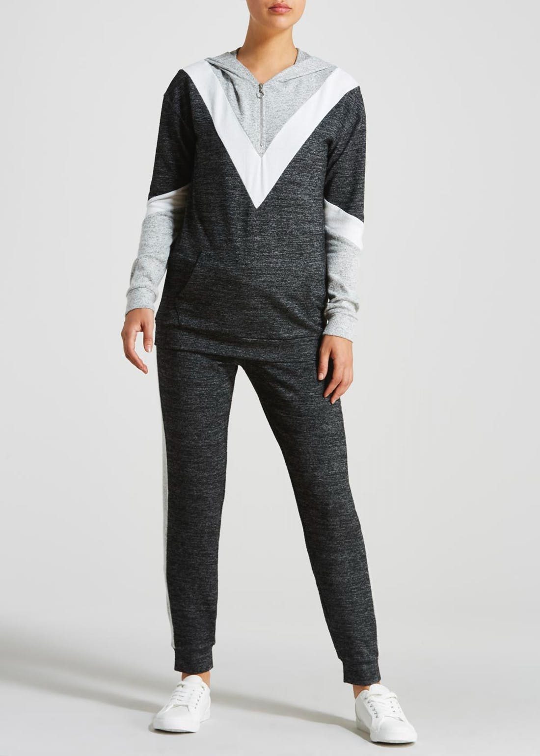 Soft Touch Chevron Jogging Bottoms