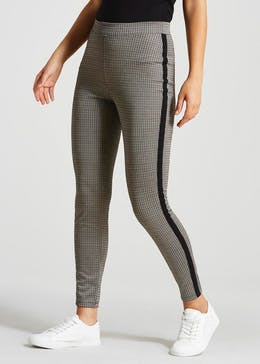 Check Side Stripe Co-Ord Leggings