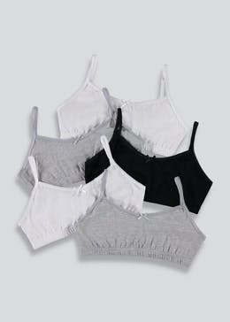 Girls 5 Pack Core Crop Tops (6-13yrs)