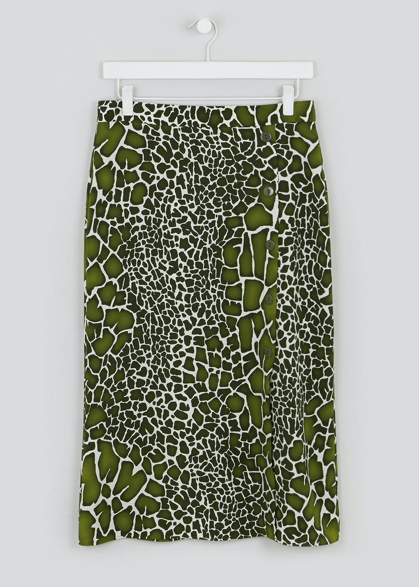 Giraffe Print Co-Ord Midi Skirt