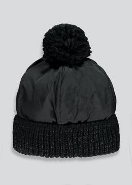 Kids Reflective Bobble Hat (7-13yrs)