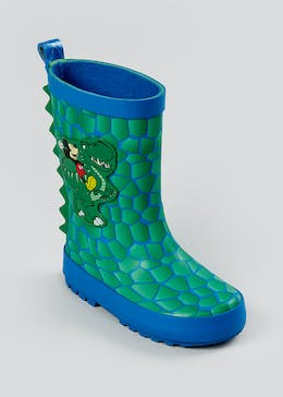 Kids Green Disney Mickey Mouse Wellies (Younger 4-9)
