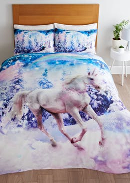 Kids Unicorn Christmas Duvet Cover (Double)