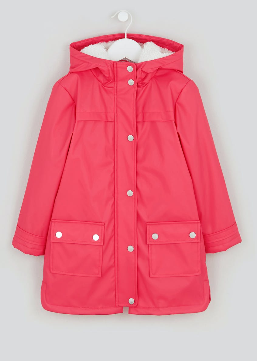 Girls Borg Lined Mac (4-13yrs)