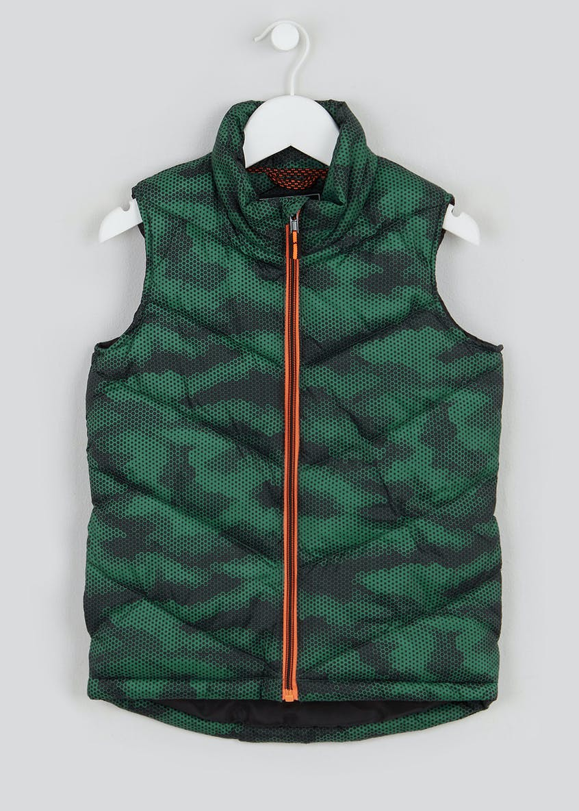 Boys Padded Camo Gilet (4-13yrs)