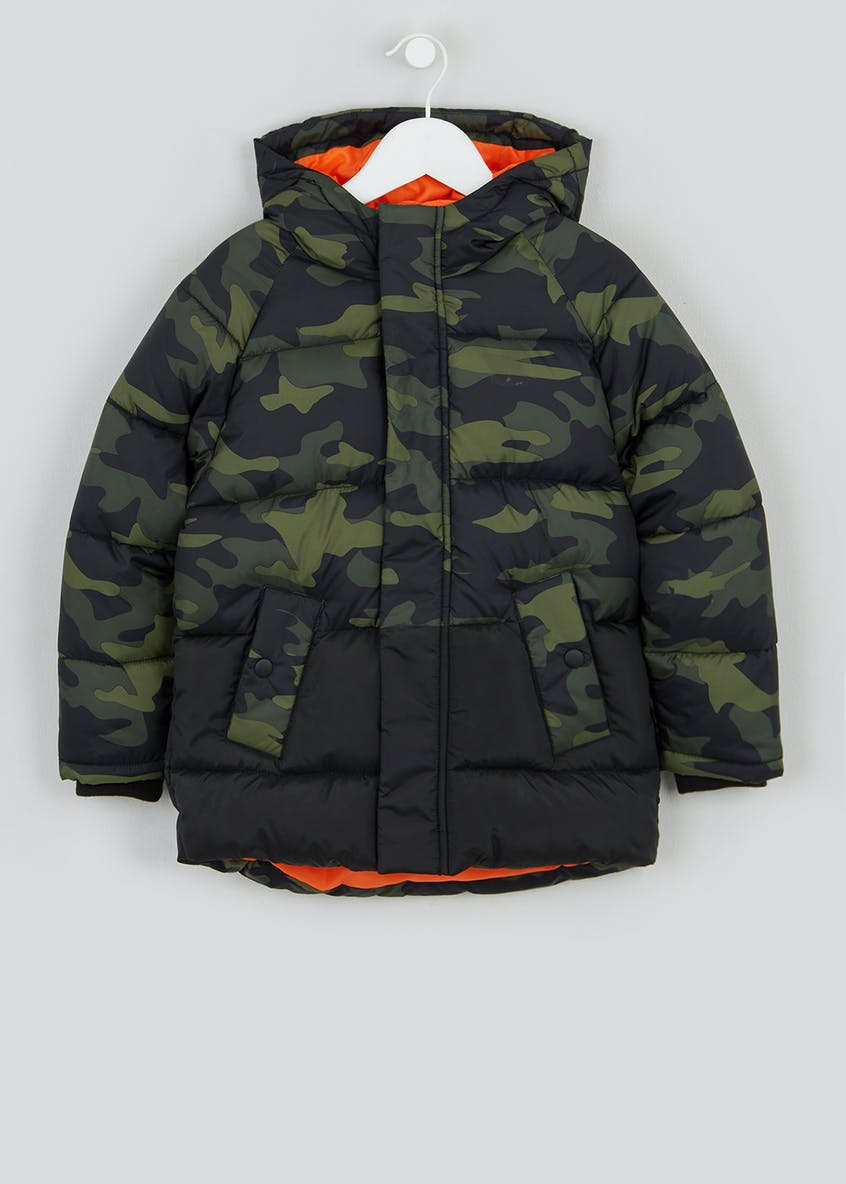 Boys Camo Padded Jacket (4-13yrs)