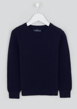 Boys Crew Neck Knitted Ribbed Jumper (4-10yrs)