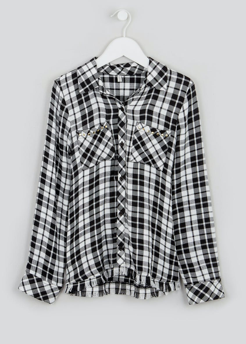 Girls Candy Couture Longline Check Shirt (9-16yrs)