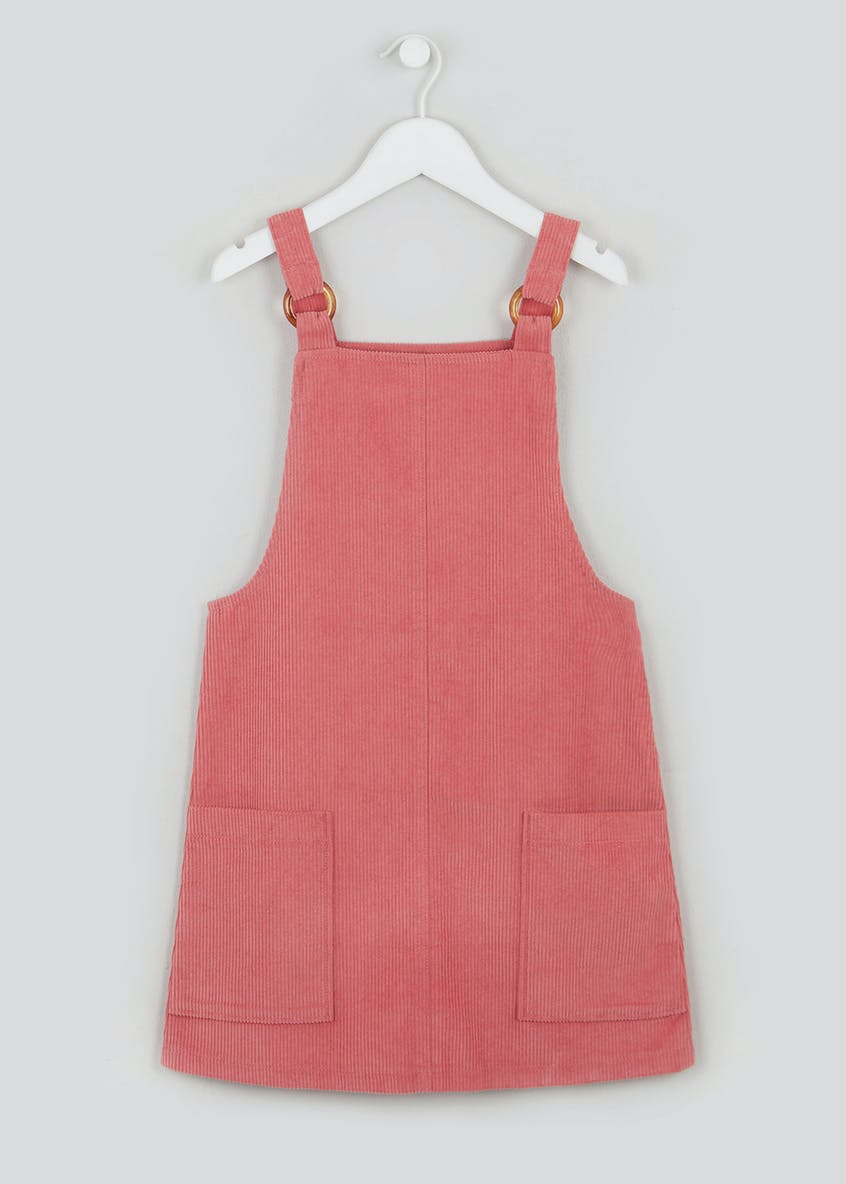 Girls Candy Couture Pink Cord Pinafore Dress (9-16yrs)
