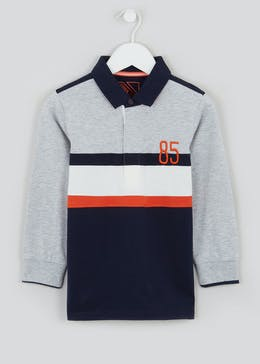 Boys Cut & Sew Rugby Polo Shirt (4-13yrs)