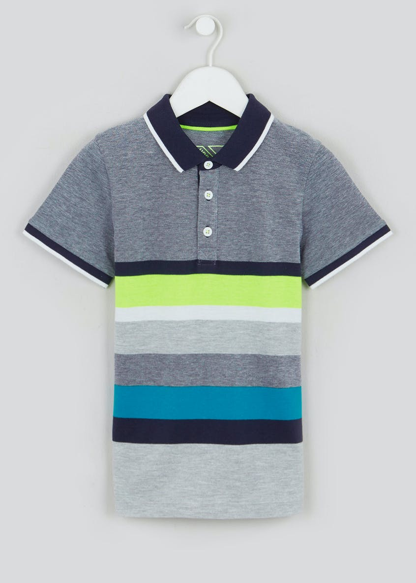 Boys Short Sleeve Stripe Polo (4-13yrs)