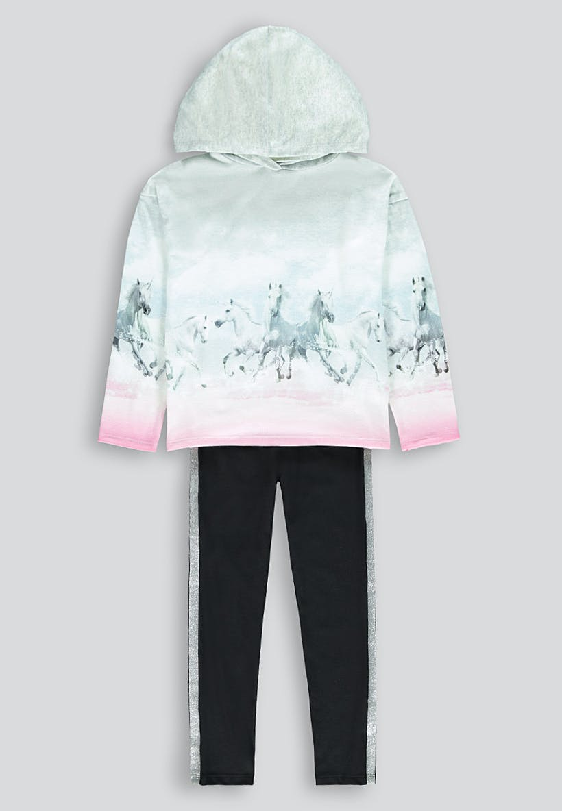 Girls Unicorn Top & Legging Set (4-13yrs)