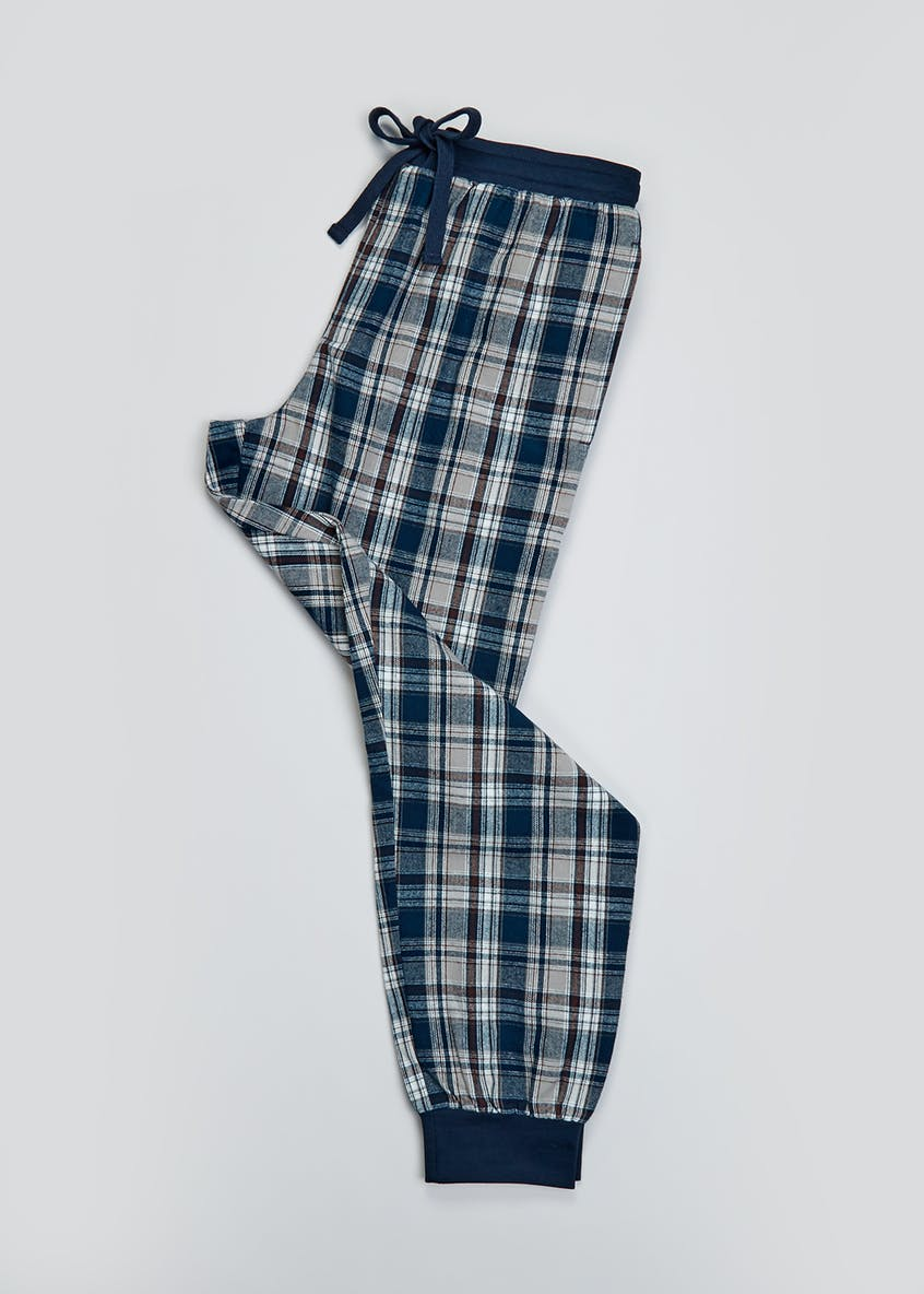 Grid Check Cuff Pyjama Bottoms