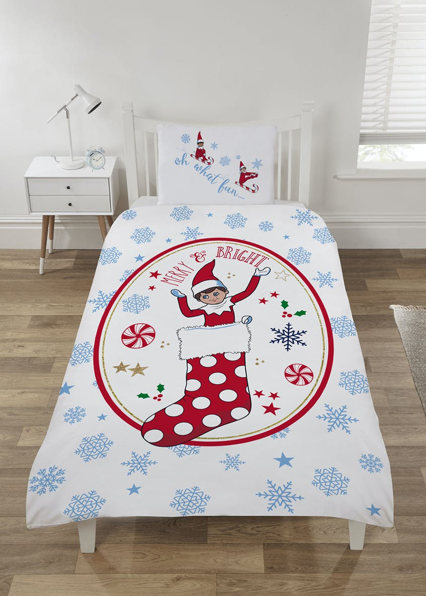 Kids Elf on the Shelf Christmas Duvet Cover (Single)