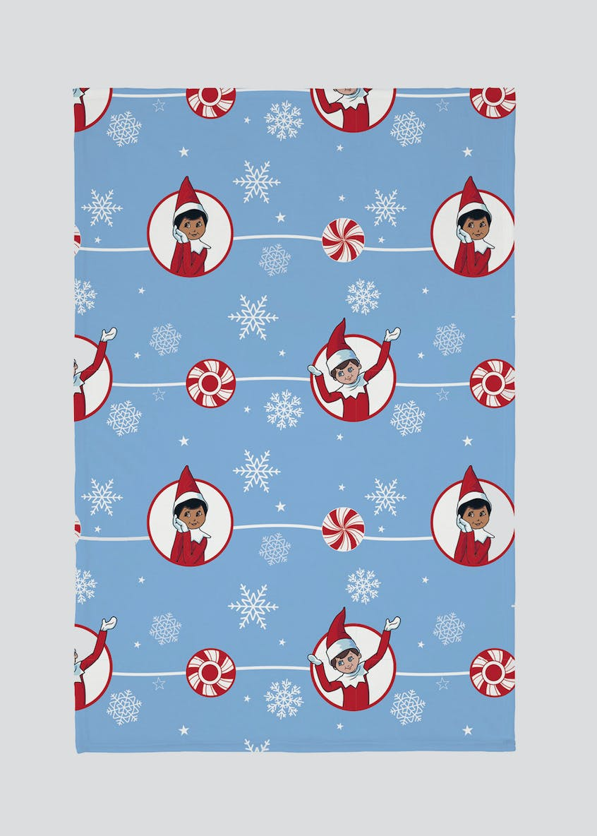 Kids Elf on the Shelf Christmas Fleece Throw (150cm x 135cm)