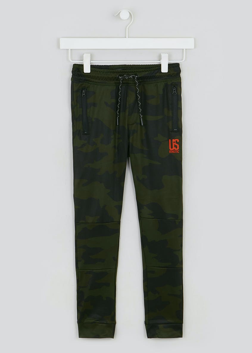 Boys US Athletic Camo Jogging Bottoms (4-13yrs)