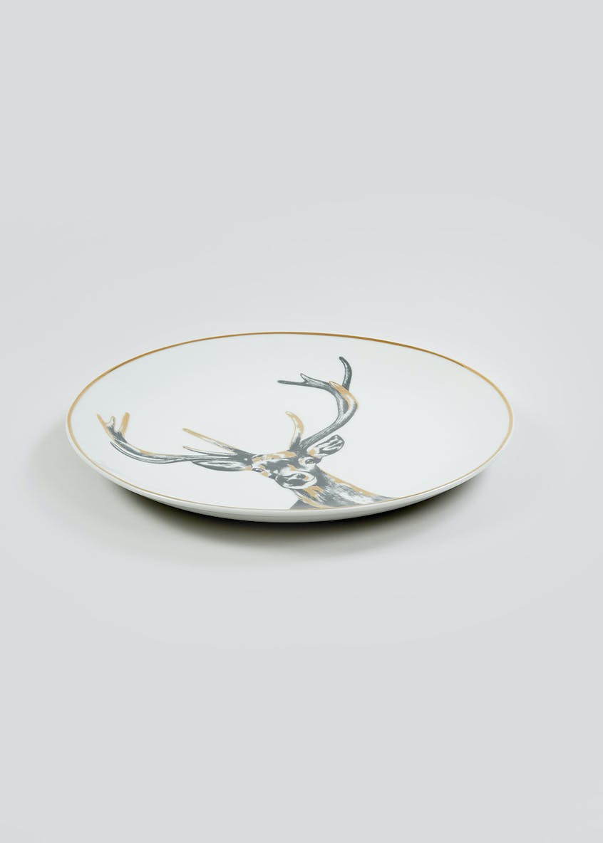 Christmas Stag Dinner Plate (27cm)