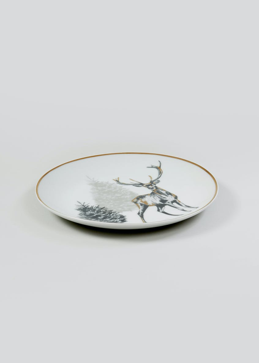 Christmas Stag Side Plate (19cm)
