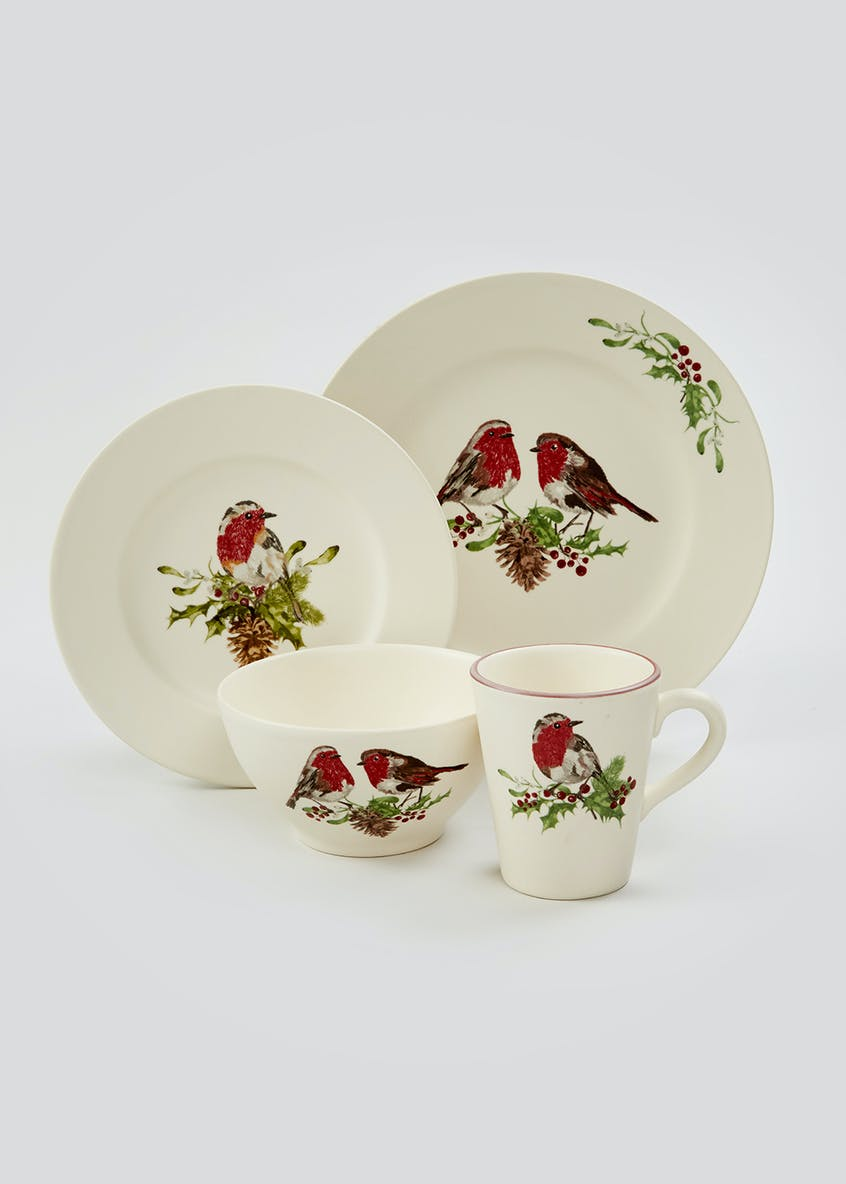 Robin Christmas Side Plate (22cm)