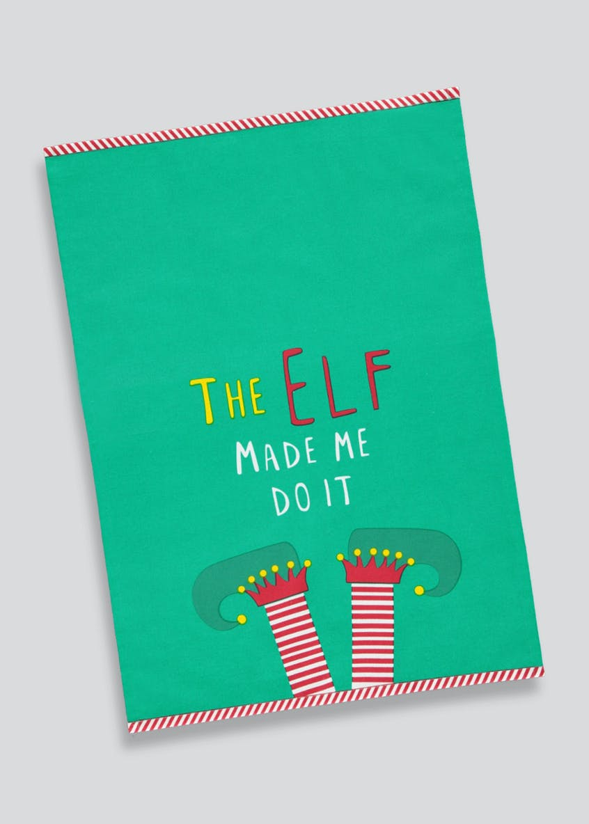 Christmas Elf Tea Towel