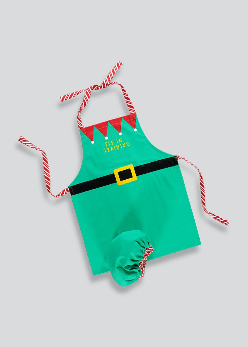 Kids Elf Apron & Hat Set (3-6yrs)