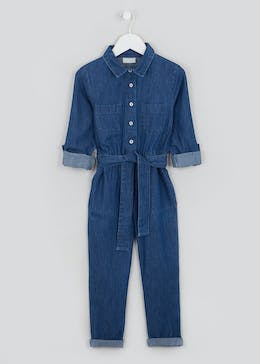 Girls Denim Jumpsuit (4-13yrs)