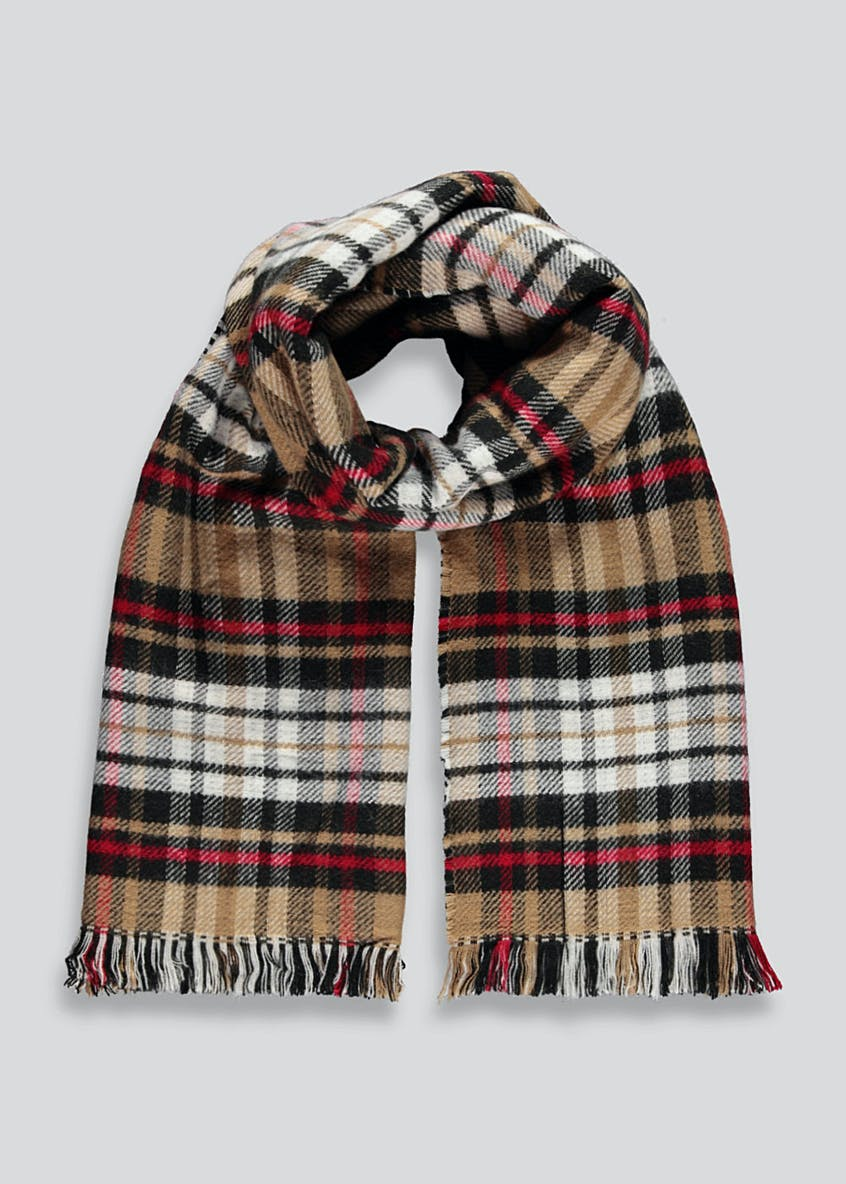 Reversible Check Blanket Scarf
