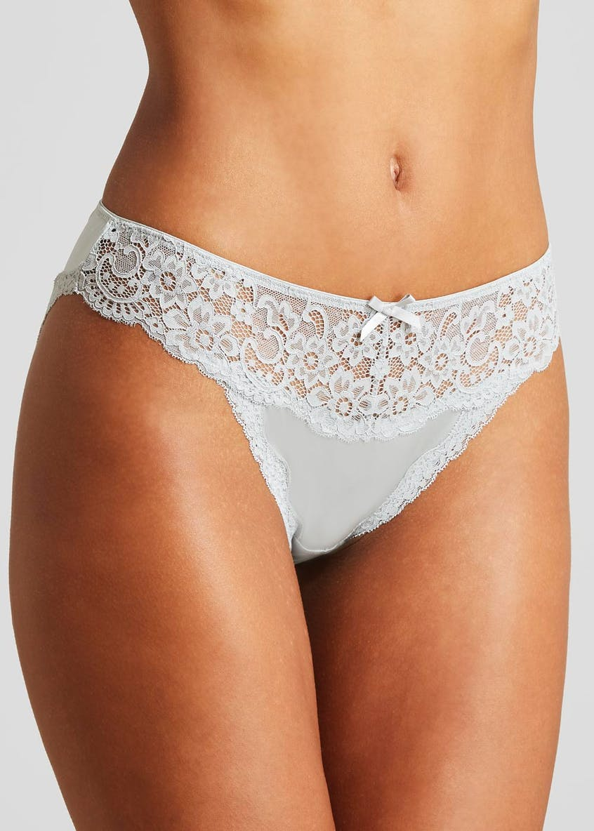 Micro Lace High Leg Knickers