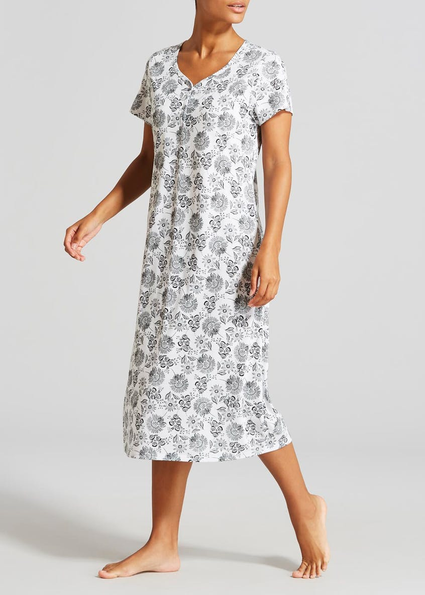 Floral Classic Button Nightie