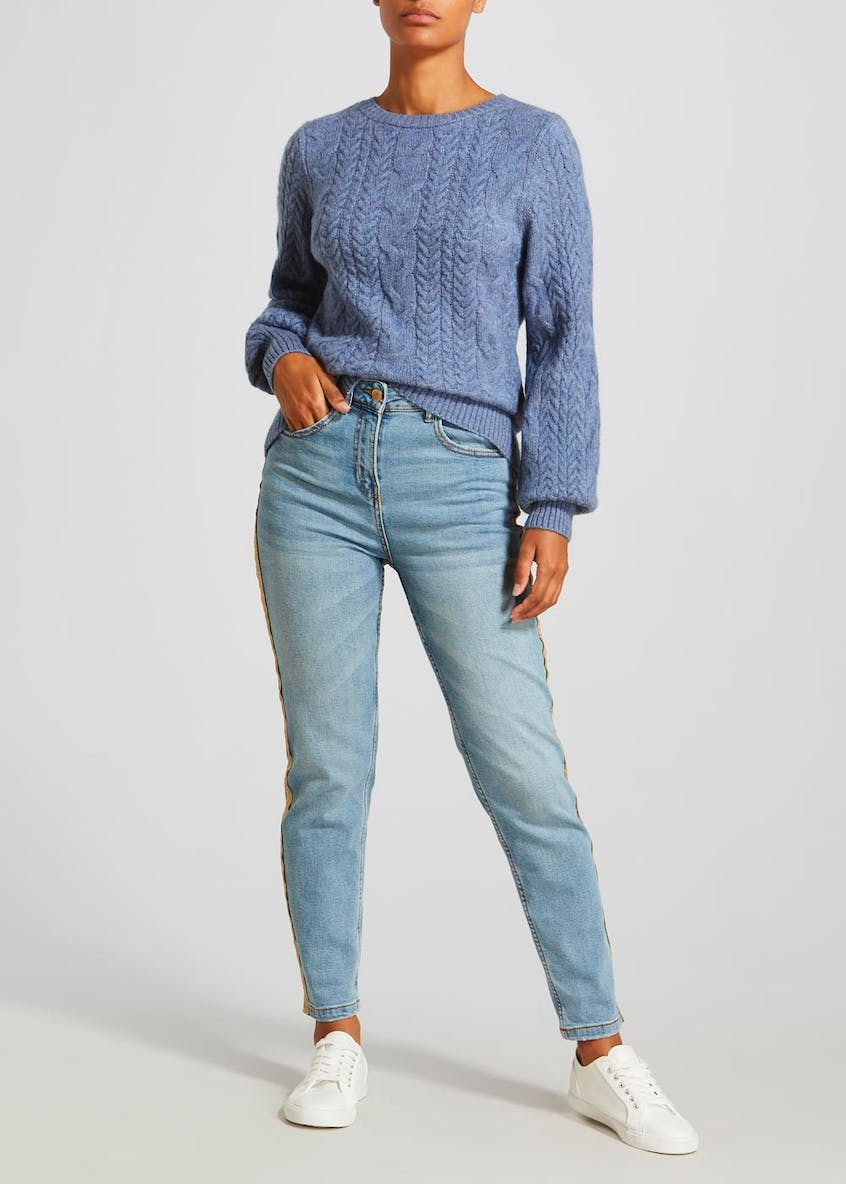 Falmer Side Stripe Straight Leg Jeans