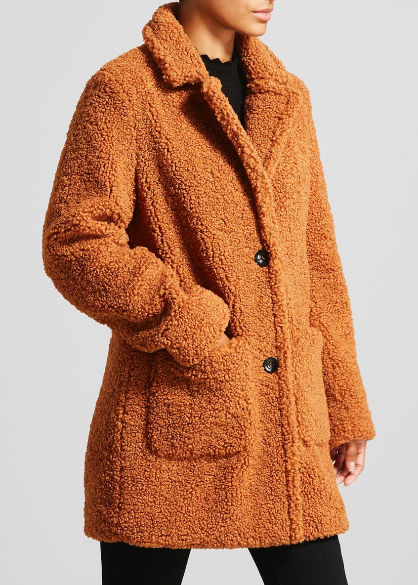 Faux Fur Teddy Boyfriend Coat