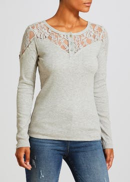 Falmer Lace Henley Top