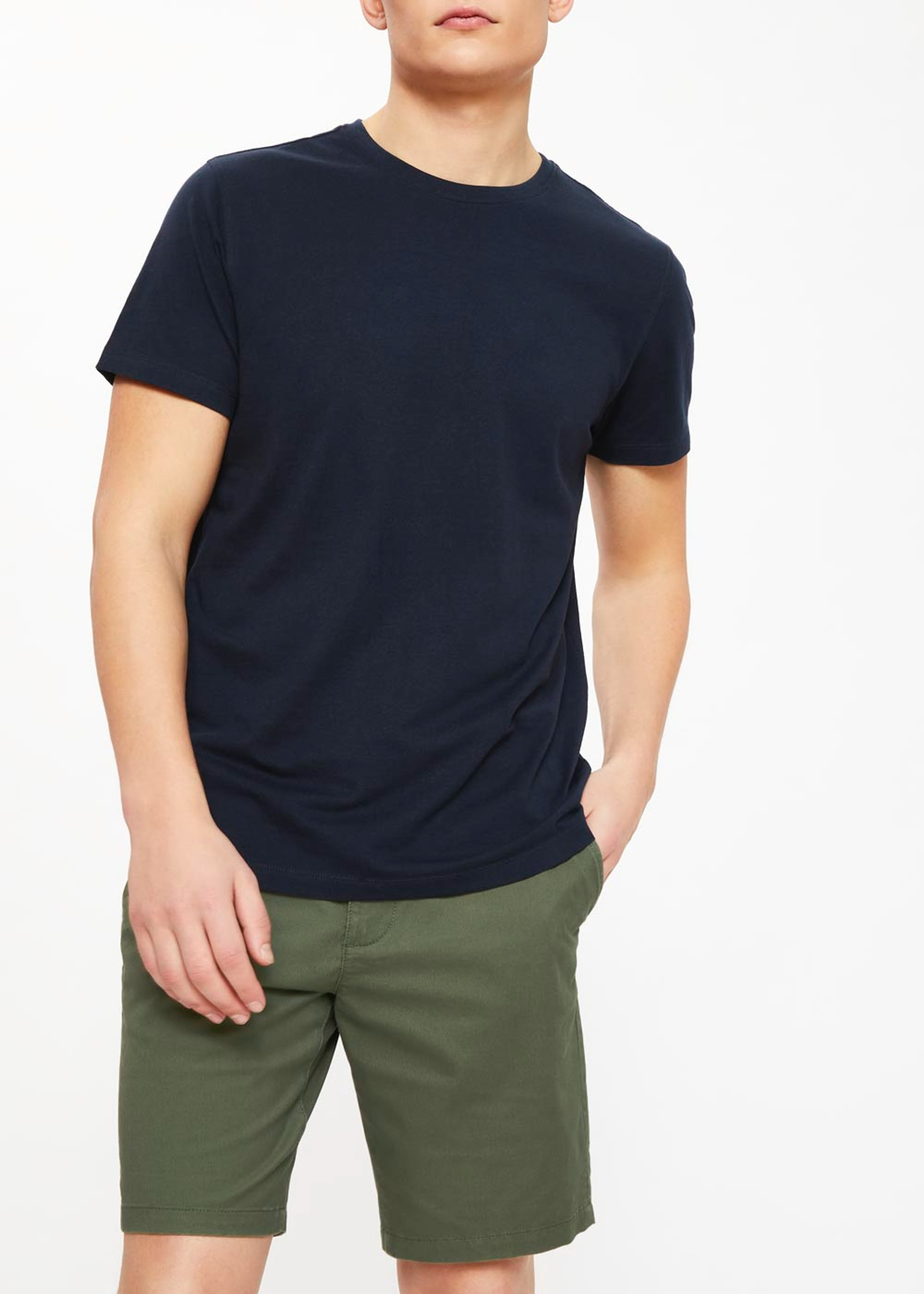 Basic Crew Neck T-Shirt Navy 6WfXD5