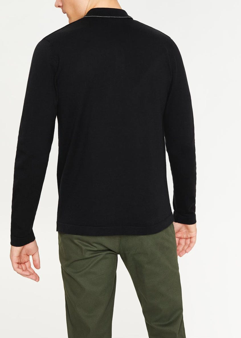 Easy Black Label Long Sleeve Smart Polo Shirt