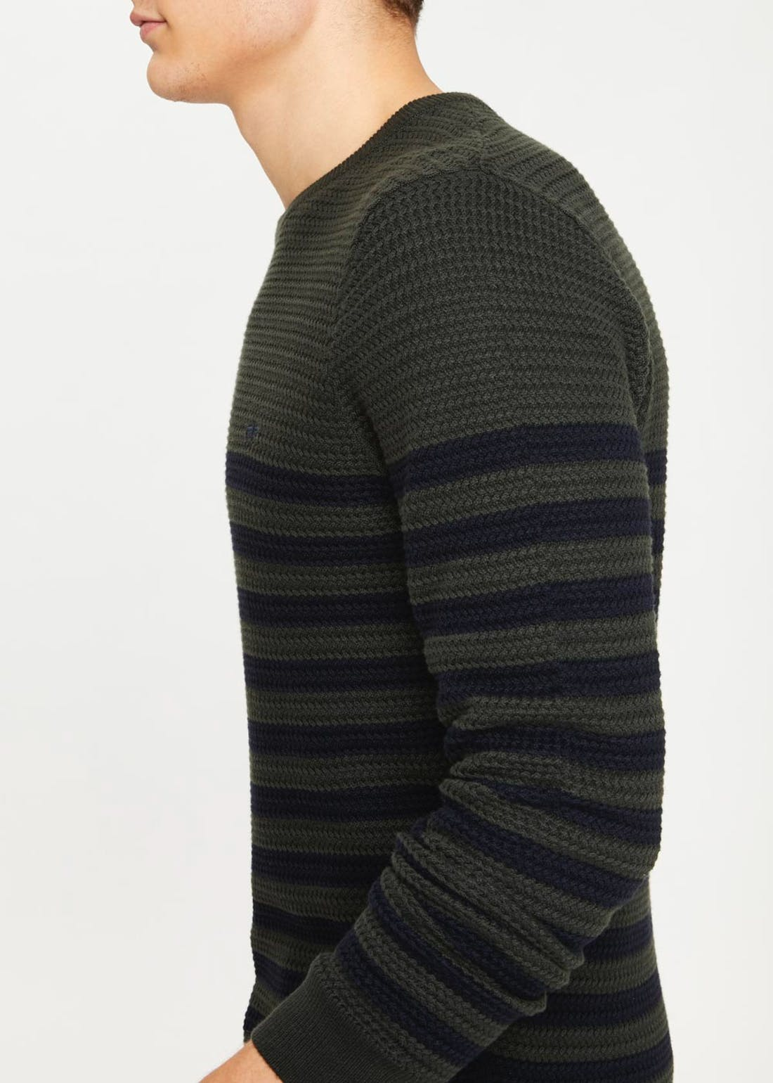 Stripe Basketweave Jumper