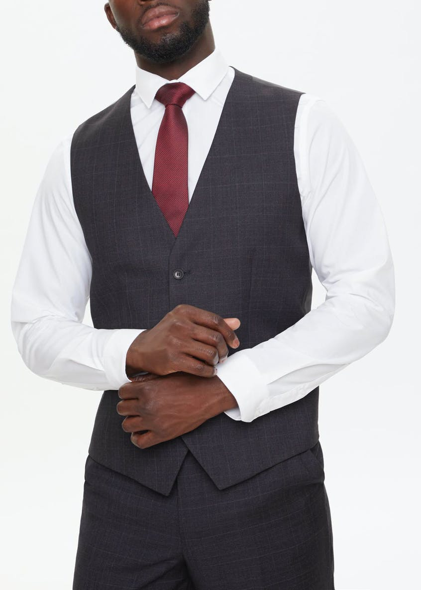 Taylor & Wright Glenridding Regular Fit Check Suit Waistcoat