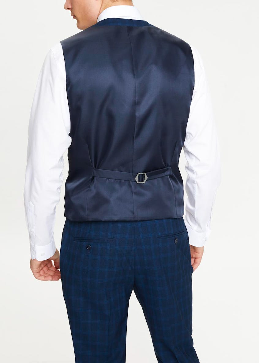 Taylor & Wright Kendal Slim Fit Check Suit Waistcoat