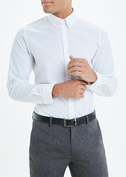 Taylor & Wright 100% Cotton Slim Fit Pin Collar Shirt