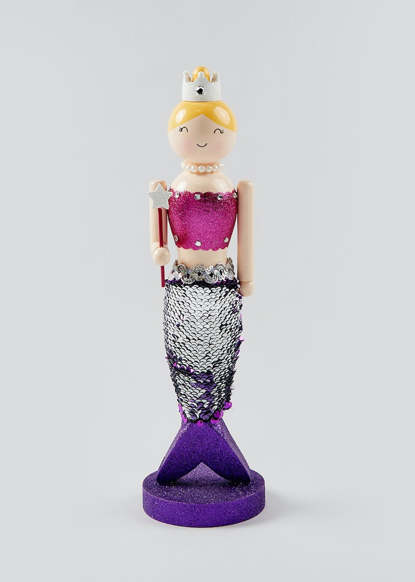 Mermaid Nutcracker Christmas Decoration (36cm x 10cm x 10cm)