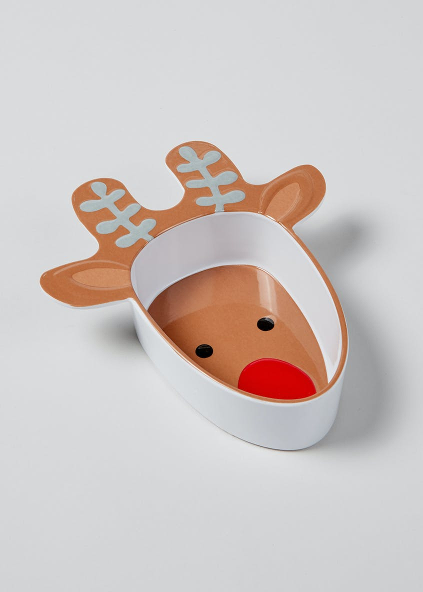Reindeer Shaped Melamine Bowl (20cm x 18cm)