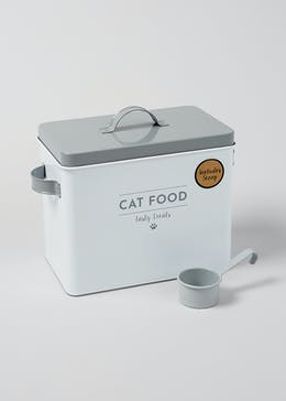 Cat Food Tin & Scoop (25cm x 22cm x 15cm)