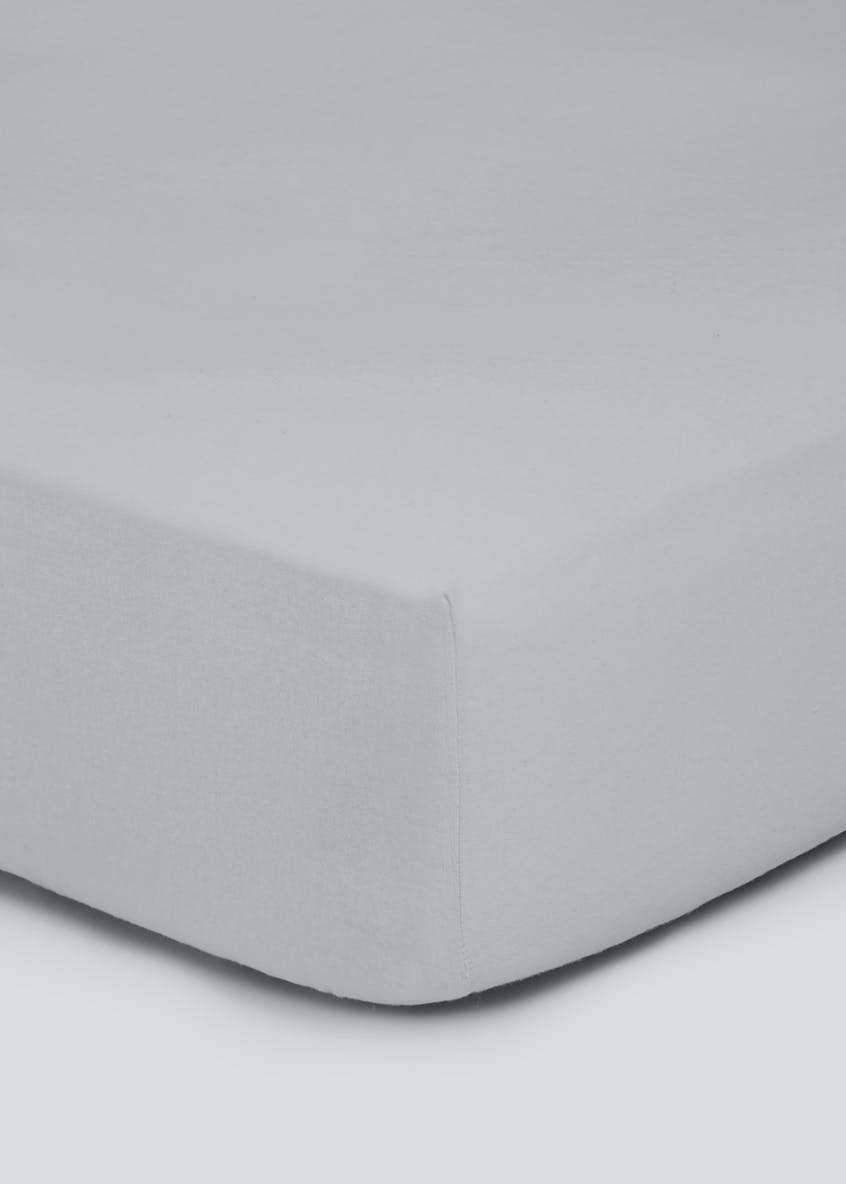 100% Brushed Cotton Fitted Sheet (Super King)