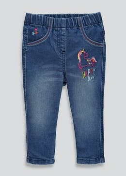 Girls Unicorn Jeggings (9mths-6yrs)