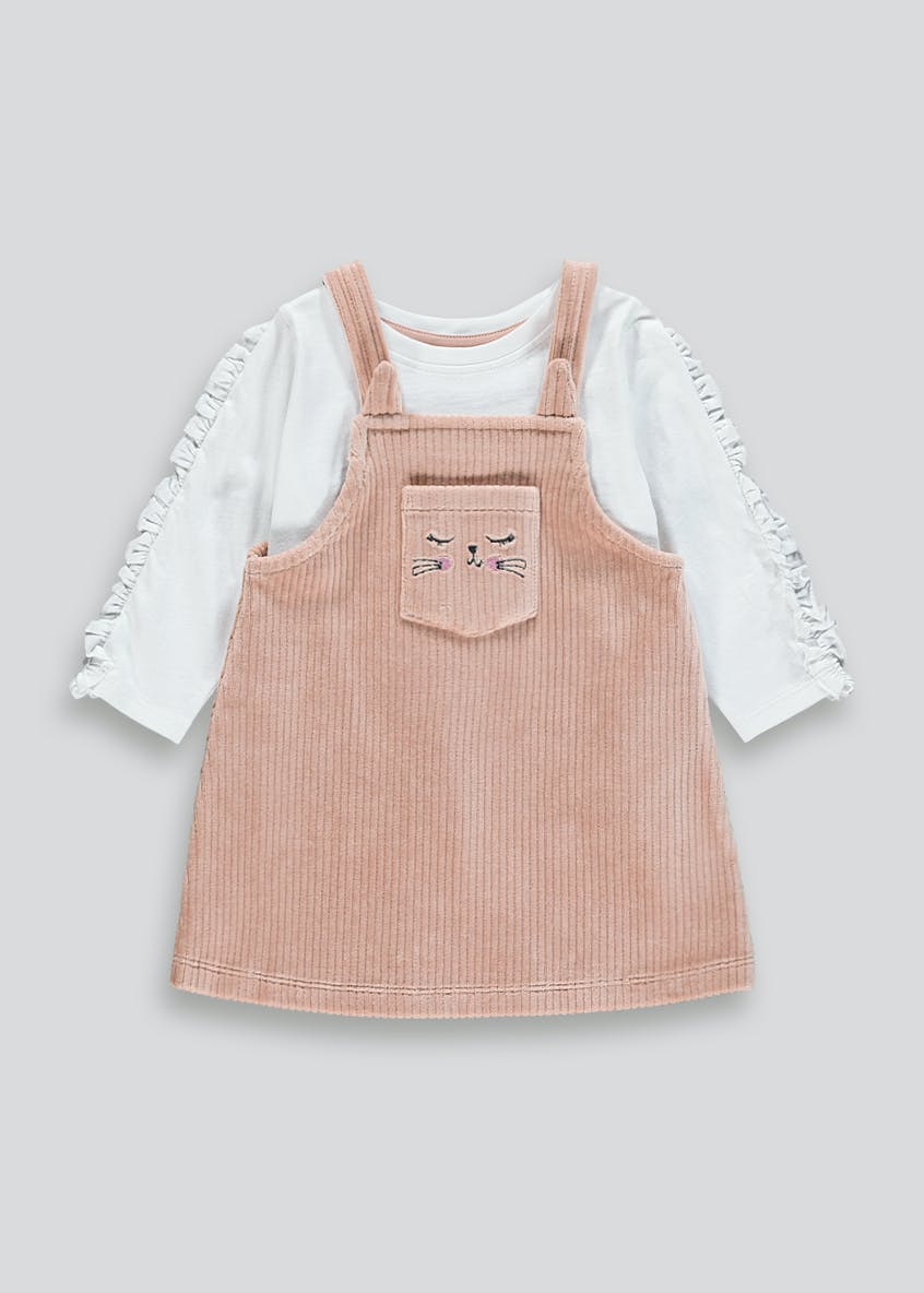 Girl Cord Pinafore Dress & T-Shirt Set (9mths-6yrs)