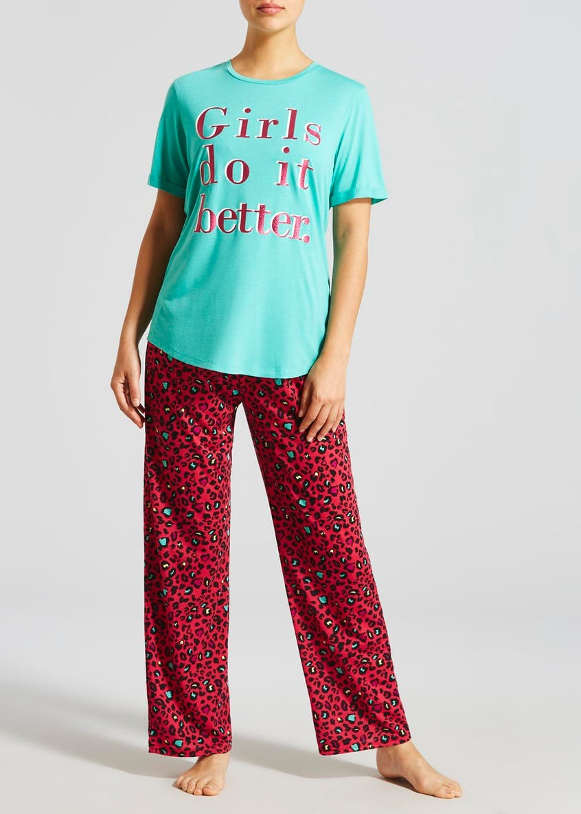 Mix & Match Leopard Print Pyjama Bottoms