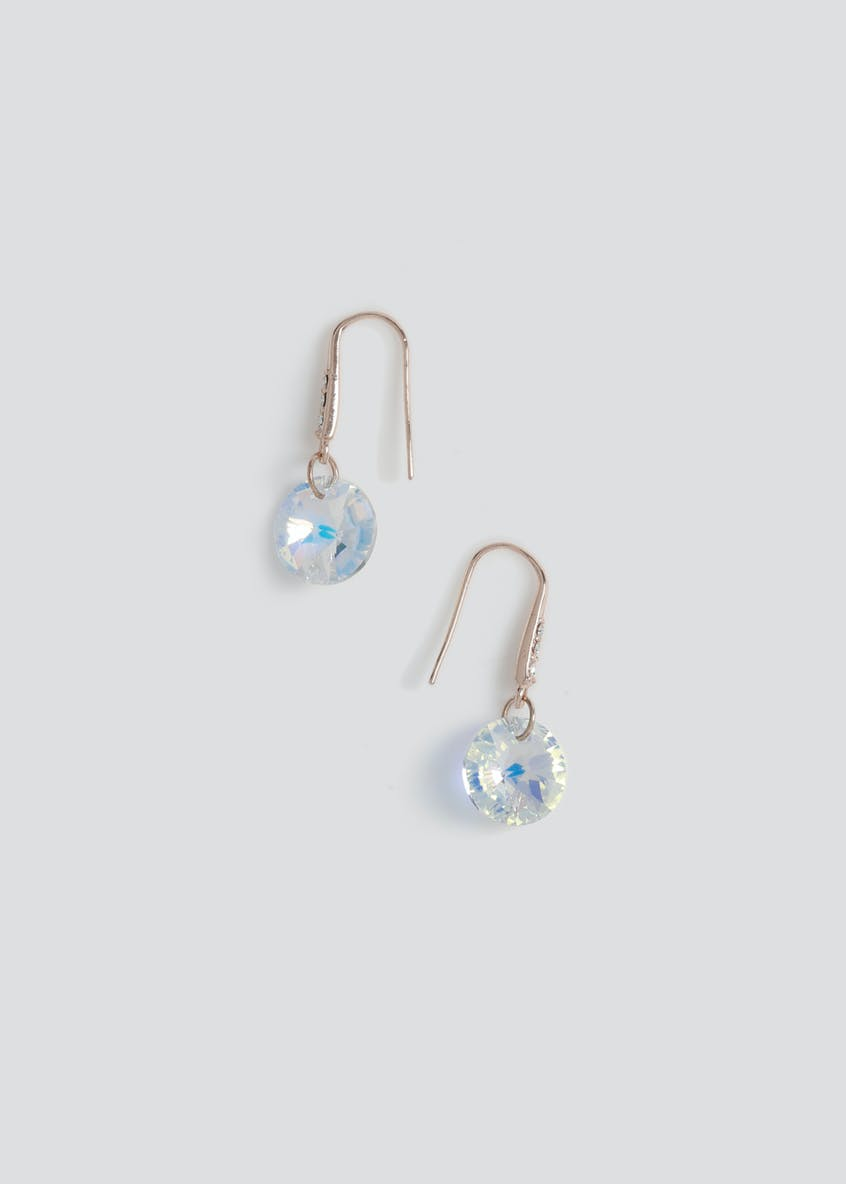 Swarovski Circle Drop Earrings