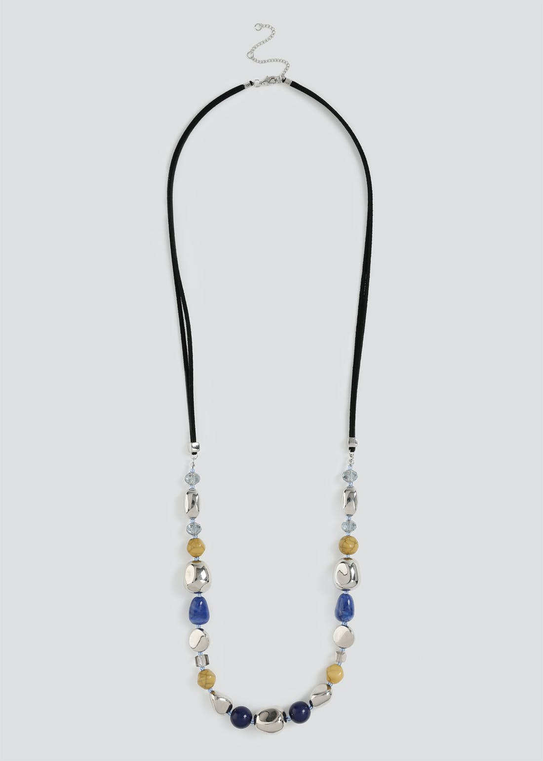 Multi Bead Rope Necklace