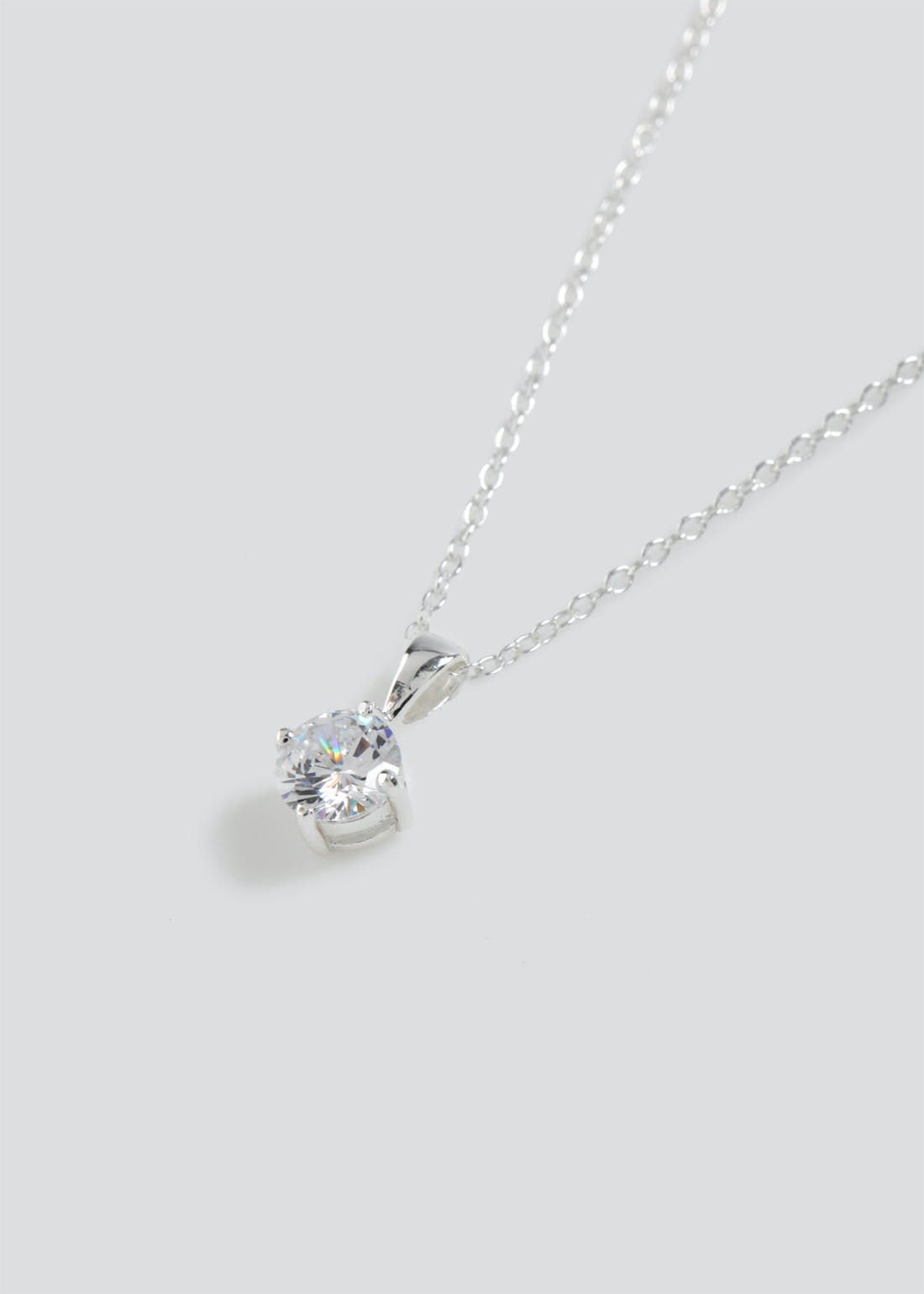 Sterling Silver Rhinestone Ditsy Necklace