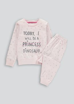 Kids Princess Dinosaur Pyjama Set (9mths-5yrs)