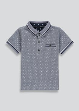 Boys Short Sleeve Polka Dot Polo Shirt (9mths-6yrs)